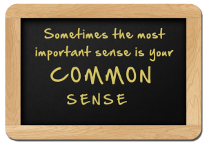 common sense chalkboard sign